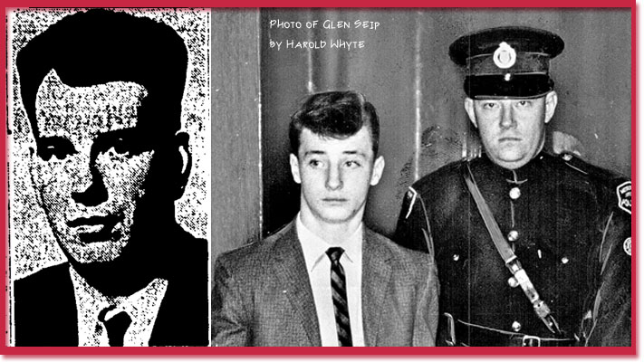 Murder victim Ronald Grigor and his killer Glen John Seip