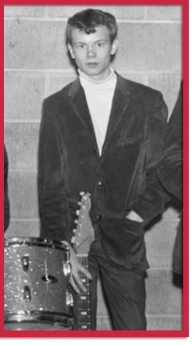 Photo of murder victim Dickey Hovey and his guitar