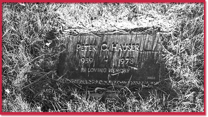 We think this is Shirley (Peter Christopher) Hauser's grave marker