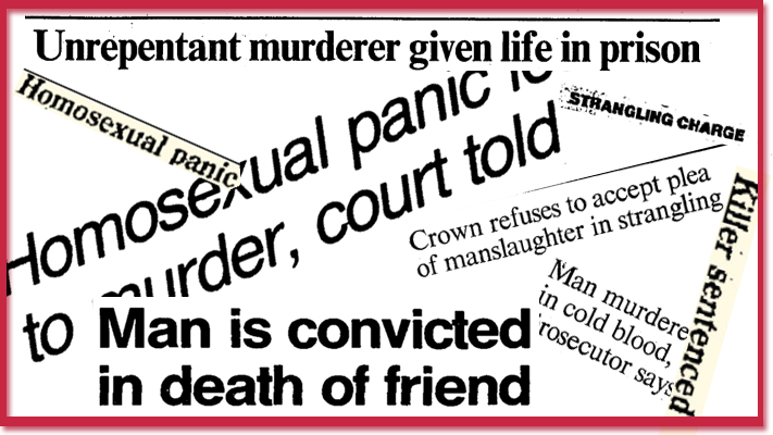 Headlines on the murder of Paul Lopes Monte De Ramos and subsequent trial