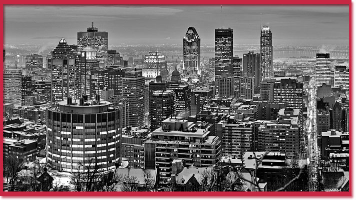 Black and white photo of Montreal (Wikipedia)