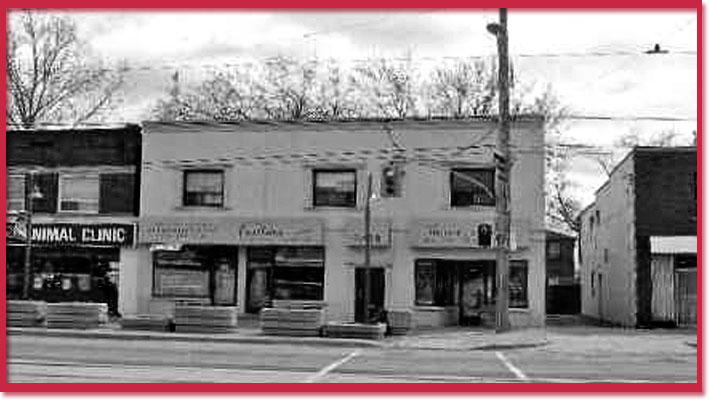 Black and white photo of 3465 Lakeshore Blvd