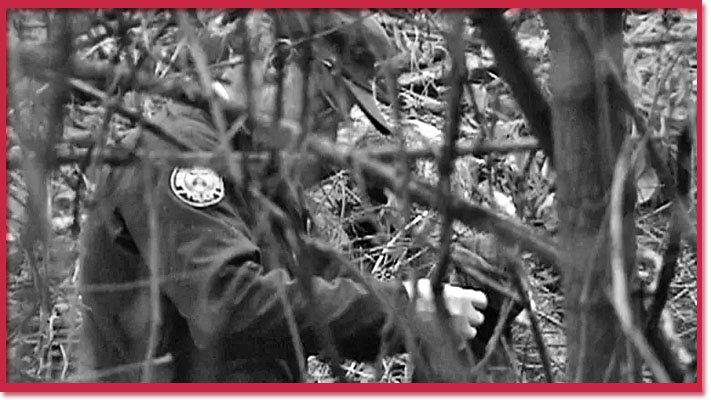 Search by investigators in 1994 for Larry Arnold's personal effects, photo by CBC