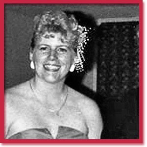 Black and white photo of murder victim Virginia Coote