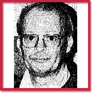 Black and white photo of murder victim Clayton Russell