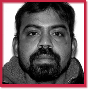 Black and white photo of Toronto homicide victim Kirushna Kumar Kanagaratnam
